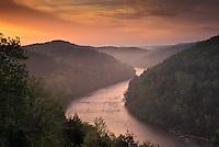 Cumberland River at sunrise, Cumberland Falls State Resort Park, Kentucky