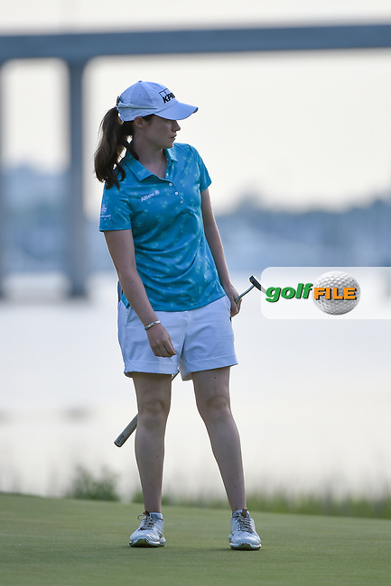 Leona Maguire (IRL) watches her putt on 10 during round 2 of the 2019 US Women's Open, Charleston Country Club, Charleston, South Carolina,  USA. 5/31/2019.<br /> Picture: Golffile | Ken Murray<br /> <br /> All photo usage must carry mandatory copyright credit (© Golffile | Ken Murray)