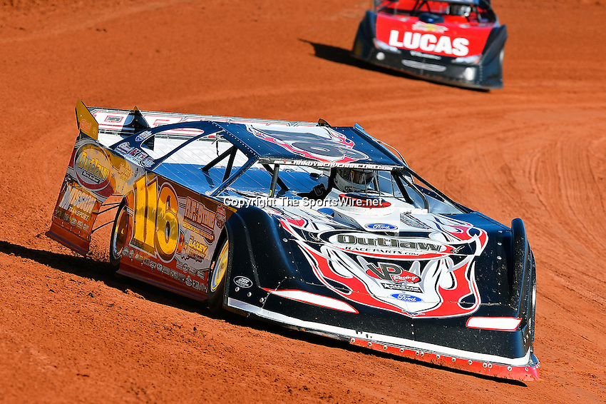 Feb 07, 2014; 11:39:10 AM; Waynesville, GA., USA; The Lucas Oil Late Model Dirt Series running The Georgia Boot Super Bowl of Racing at Golden Isles Speedway.  Mandatory Credit: (thesportswire.net)