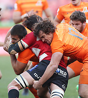 Juan Pablo Zeiss of the Jaguares during the Super Rugby quarter-final match between the Emirates Lions and the Jaguares at the Emirates Airlines Park Stadium,Johannesburg, South Africa on Saturday, 21 July 2018. Photo: Steve Haag / stevehaagsports.com