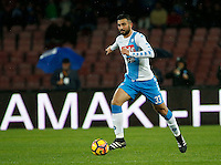 Raul Albiol  during the SSC Napoli vs Atalanta, serie A  soccer match at  San Paolo Stadium in Naples , Italy 25 February 2017 Photo: Ciro De Luca ciro de luca<br />   +39 02 43998577 sales@silverhubmedia.it