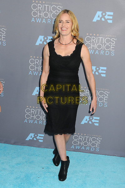 17 January 2016 - Santa Monica, California - Elizabeth Shue. 21st Annual Critics' Choice Awards - Arrivals held at Barker Hangar. <br /> CAP/ADM/BP<br /> &copy;BP/ADM/Capital Pictures