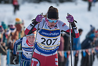 Leah Lange of Utah Ski team competes in the Women's Junior 5K Classic during the 2018 U.S. National Cross Country Ski Championships at Kincaid Park in Anchorage.