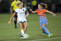 Portland, OR - Wednesday Sept. 07, 2016: Allie Long, Andressa Machry during a regular season National Women's Soccer League (NWSL) match between the Portland Thorns FC and the Houston Dash at Providence Park.