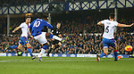 Romelu Lukaku of Everton hits the post with a shot on goal - Everton vs Crystal Palace - Barclays Premier League - Goodison Park - Liverpool - 07/12/2015 Pic Philip Oldham/SportImage