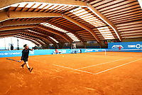 1st May 2020, Hohr Grenzhausen, Germany;  Jean Marc Werner plays during todays Tennis Point Exhibition, taking place just outside the small town of Hohr Grenzhausen which is the 1st official sporting event in 37 days in Germany