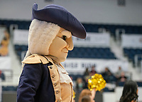 WASHINGTON, DC - FEBRUARY 8: George Washington mascot during a game between Rhode Island and George Washington at Charles E Smith Center on February 8, 2020 in Washington, DC.