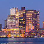 Dawn on the Boston waterfront, Boston, Massachusetts, USA