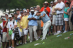 May 8,2011 - Kevin Na hits his  great downhill shot towards the eighteenth green..  Lucas Glover wins the tournament in sudden death over Jonathan Byrd at Quail Hollow Country Club,Charlotte,NC.
