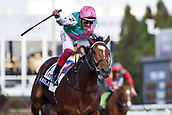 3rd November, 2018, Churchill Downs, Louisville, Kentucky, USA; Enable with Frankie Dettori up wins the Breeders Cup Turf. Churchill Downs racecourse.