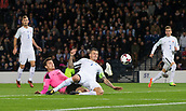 5th October 2017, Hampden Park, Glasgow, Scotland; FIFA World Cup Qualification, Scotland versus Slovakia; Slovakia's Martin Skrtel under pressure from behind scores an own goal to earn Scotland a 1-0 victory over Slovakia