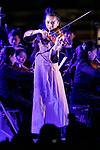 Japanese violinist Emiri Miyamoto performs during the 1000 Days to Go! cultural event in front of Tokyo Station on November 26, 2017, Tokyo, Japan. Japanese celebrities attended the event marking the 1000-day countdown to the 2020 Tokyo Olympics. (Photo by Rodrigo Reyes Marin/AFLO)