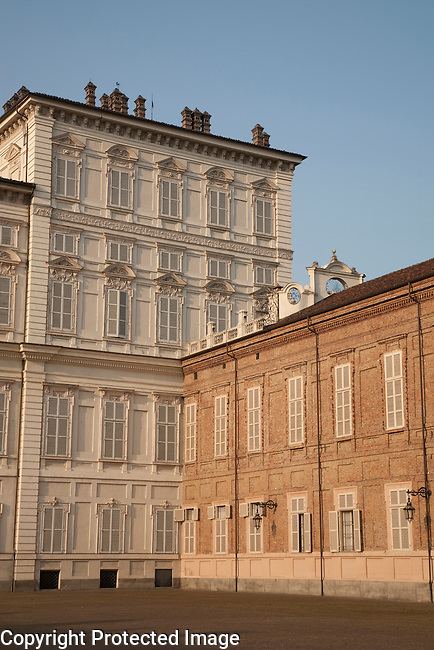 The main facade of the Royal Palace in Turin - Torino in Italy