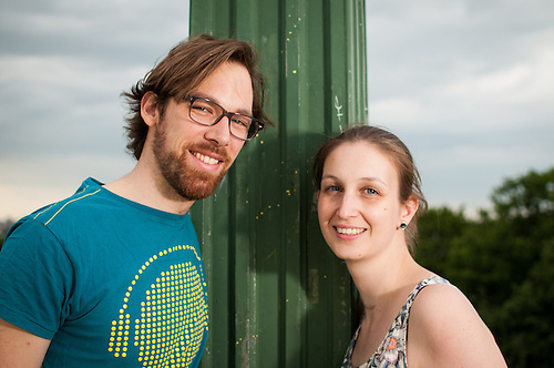 Beatrice and Carlos shoot in park. Before the wedding