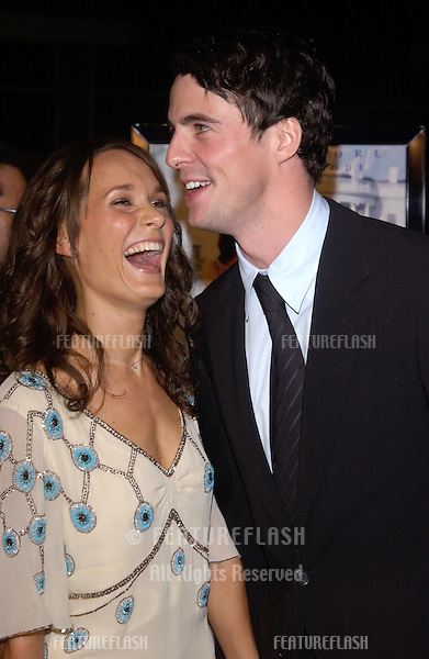 Actor MATTHEW GOODE & girlfriend MARGOT MOLINARI at the world premiere, in Hollywood, of his new movie Chasing Liberty..January 7, 2004