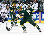 Sean Backman (Yale - 16), Colin Vock (Vermont - 10) - The University of Vermont Catamounts defeated the Yale University Bulldogs 4-1 in their NCAA East Regional Semi-Final match on Friday, March 27, 2009, at the Bridgeport Arena at Harbor Yard in Bridgeport, Connecticut.