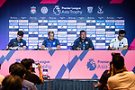 (3rd L-R) Leicester City FC head coach Craig Shakespeare talks during a Premier League Asia Trophy Press Conference at Grand Hyatt Hotel on July 21, 2017 in Hong Kong, China. Photo by Marcio Rodrigo Machado / Power Sport Images