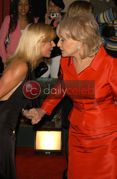 Geri Halliwell and Barbara Walters