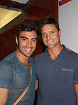 """Reichen Lehmkuhl (R) on Days of Our Lives and Young and Restless and one of the winners of Amazing Race Season 4 poses with Rodiney Santiago - both star in """"The A-List New York"""" on Logo as Rodiney stars in Parker & Dizzy's Fabulous Journey to the End of the Rainbow at the 15th Annual Fringe NYC, (The New York International Fringe Festival) in August 12 to August 28 2011 at the Ellen Stewart Theatre, NYC, NY.  (Photo by Sue Coflin/Max Photos)"""