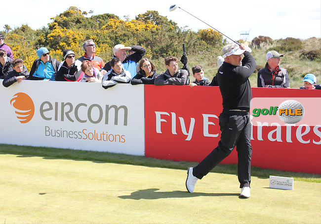 Darren CLARKE (NIR) on the 17th tee during the final round of the 2015 Dubai Duty Free Irish Open hosted by the Rory Foundation, Royal County Down Golf Club, Newcastle Co Down, Northern Ireland. 31/05/2015<br /> Picture TJ Caffrey, www.golffile.ie