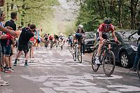 Tim Wellens (BEL/Lotto Soudal) up the C&ocirc;te de la Roche aux Faucons<br /> <br /> 104th Li&egrave;ge - Bastogne - Li&egrave;ge 2018 (1.UWT)<br /> 1 Day Race: Li&egrave;ge - Ans (258km)