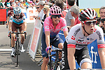 Elie Gesbert (FRA) Team Arkea-Samsic crosses the finish line in 3rd place and Rigoberto Uran (COL) EF Education First 4th at the end of Stage 1 of the Route d'Occitanie 2019, running 175.5km from Gignac-Vallée de l'Hérault to Saint-Geniez-d'Olt-et-d'Aubrac , France. 20th June 2019<br /> Picture: Colin Flockton | Cyclefile<br /> All photos usage must carry mandatory copyright credit (© Cyclefile | Colin Flockton)
