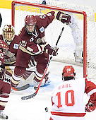 Cory Schneider, Mike Brennan, Robbie Earl - The University of Wisconsin Badgers defeated the Boston College Eagles 2-1 on Saturday, April 8, 2006, at the Bradley Center in Milwaukee, Wisconsin in the 2006 Frozen Four Final to take the national Title.