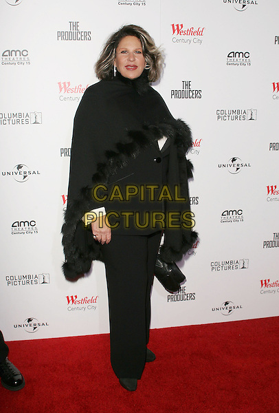 "LANIE KAZAN.""The Producers"" World Premiere held at the Westfield Century City, Century City, California..December 12th, 2005 .Photo: William Scott/ AdMedia/Capital Pictures.Ref: WS/ADM.full length black shawl .www.capitalpictures.com.sales@capitalpictures.com.© Capital Pictures."