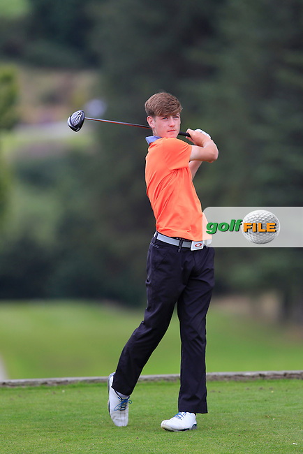 Joseph Hanney (Island) on the 14th tee during Round 1 of the Ulster U16 Boys Open at Dungannon Golf Club on Wednesday 12th August 2015.<br /> Picture:  Thos Caffrey / www.golffile.ie