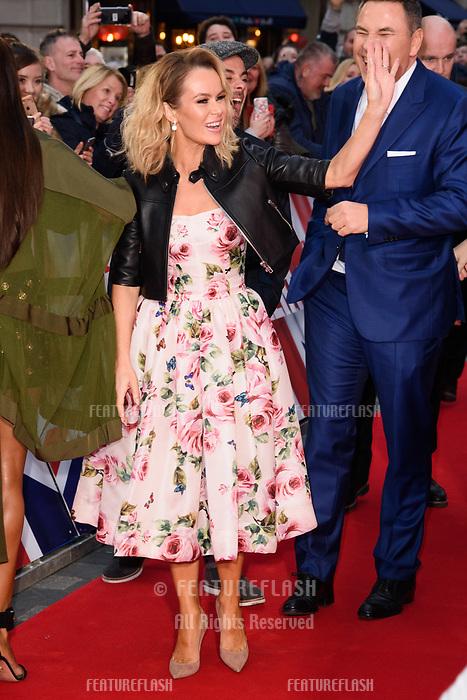 Amanda Holden &amp; David Walliams at the London auditions for Britain's Got Talent 2018 at the London Palladium, London, UK. <br /> 28 January  2018<br /> Picture: Steve Vas/Featureflash/SilverHub 0208 004 5359 sales@silverhubmedia.com