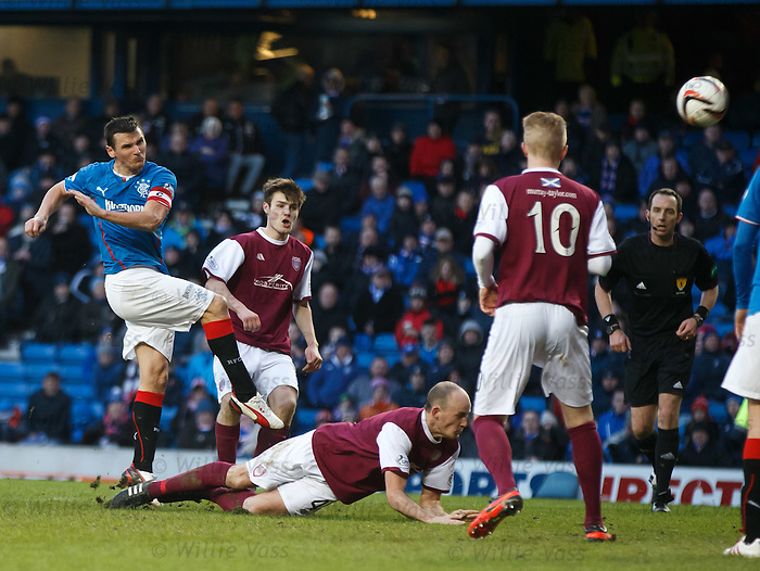 Lee McCulloch blasts the ball into a low earth orbit as he shoots