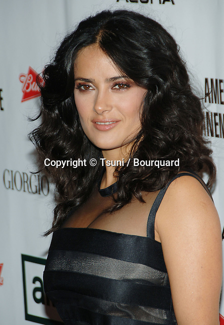 Salma Hayek arriving at the American Cinematheque Honoring George Clooney at the Beverly Hilton in Beverly Hills, Los Angeles. October 13, 2006.<br /> <br /> headshot<br /> eye contact