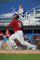 Mahoning Valley Scrappers first baseman Emmanuel Tapia (28) at bat during the first game of a doubleheader against the Batavia Muckdogs on August 17, 2016 at Dwyer Stadium in Batavia, New York.  Mahoning Valley defeated Batavia 10-3.  (Mike Janes/Four Seam Images)