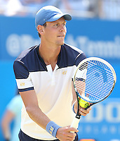 Tomas Berdych (CZE) during his match versus Feliciano Lopez (ESP) - Aegon Tennis Championships, Quarter Final at Queens Club, London - 13/06/14 - MANDATORY CREDIT: Rob Newell - Self billing applies where appropriate - 07808 022 631 - robnew1168@aol.com - NO UNPAID USE - BACS details for payment: Rob Newell A/C 11891604 Sort Code 16-60-51