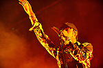MIAMI, FL - DECEMBER 19: Travis Scott performs during The Weeknd 'The Madness Tour' at American Airlines Arena on Saturday December 19, 2015 in Miami, Florida. ( Photo by Johnny Louis / jlnphotography.com )