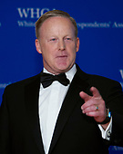 Former White House Press Secretary Sean Spicer arrives for the 2018 White House Correspondents Association Annual Dinner at the Washington Hilton Hotel on Saturday, April 28, 2018.<br /> Credit: Ron Sachs / CNP<br /> <br /> (RESTRICTION: NO New York or New Jersey Newspapers or newspapers within a 75 mile radius of New York City)