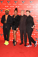 LONDON, UK. January 03, 2019: Will.i.am, Jennifer Hudson, Sir Tom Jones &amp; Olly Murs at the launch photocall for the 2019 series of &quot;The Voice&quot; London.<br /> Picture: Steve Vas/Featureflash