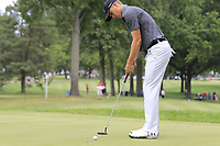 Jordan Spieth (USA) putts on the 2nd green during Sunday's Final Round of the WGC Bridgestone Invitational 2017 held at Firestone Country Club, Akron, USA. 6th August 2017.<br /> Picture: Eoin Clarke | Golffile<br /> <br /> <br /> All photos usage must carry mandatory copyright credit (&copy; Golffile | Eoin Clarke)