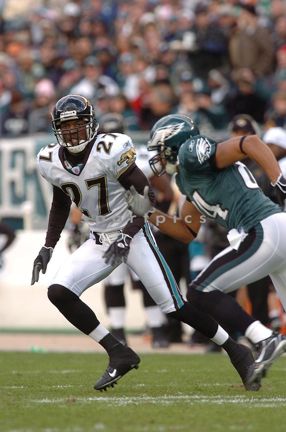 RASHEAN MATHIS of the Jacksonville Jaguars  in action against the Philadelphia Eagles on October 29, 2006 in Philadelphia PA...Jaguars win 13-6..Tomasso DeRosa / SportPics