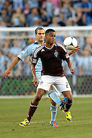Rapids midfielder Jaime Castrillon (23) in action..Sporting Kansas City defeated Colorado Rapids 2-0 in Open Cup play at LIVESTRONG Sporting Park, Kansas City, Kansas.