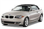 Front three quarter view of 2007 - 2011 BMW 1-Series 128i convertible Stock Photo