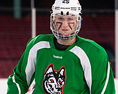 Patrick Schule (NU - 25) The Northeastern University Huskies practiced at Fenway on Friday, January 13, 2017, in Boston, Massachusetts.