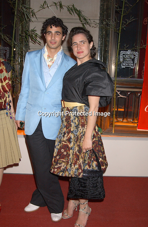 ZAC POSEN & SISTER ALEXANDRA ARRIVING AT THE .CARTIER MANSION FOR THE LAUNCH OF LE BAISER du .DRAGON ON MAY 6,2003..PHOTO BY ROBIN PLATZER,TWIN IMAGES