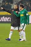 04.11.2018, Borussia Park , Moenchengladbach, GER, 1. FBL,  Borussia Moenchengladbach vs. Fortuna Duesseldorf,<br />  <br /> DFL regulations prohibit any use of photographs as image sequences and/or quasi-video<br /> <br /> im Bild / picture shows: <br /> Tony Jantschke (Gladbach #24),    Jonas Hofmann (Gladbach #23),   nach dem Spiel <br /> <br /> Foto &copy; nordphoto / Meuter