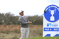 Yusaku Miyazato (JPN) on the 11th tee during Round 2 of the Open de Espana 2018 at Centro Nacional de Golf on Friday 13th April 2018.<br /> Picture:  Thos Caffrey / www.golffile.ie<br /> <br /> All photo usage must carry mandatory copyright credit (&copy; Golffile | Thos Caffrey)