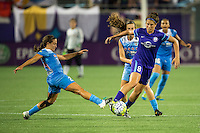 Orlando, FL - Saturday July 16, 2016: Sarah Hagen during a regular season National Women's Soccer League (NWSL) match between the Orlando Pride and the Chicago Red Stars at Camping World Stadium.