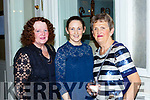 Yvonne Quill, Mairead Quill and Mary Harmon at the Killlarney Rotary club charity fashion afternoon tea show in the Great Southern Hotel on Saturday