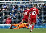 01.02.2020 Rangers v Aberdeen: Allan McGregor saves from Sam Cosgrove