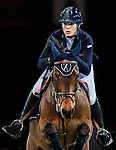 Jessica Mendoza of United Kingdom riding Ramiro de Belle Vue competes at the Longines Speed Challenge during the Longines Hong Kong Masters 2015 at the AsiaWorld Expo on 13 February 2015 in Hong Kong, China. Photo by Juan Flor / Power Sport Images