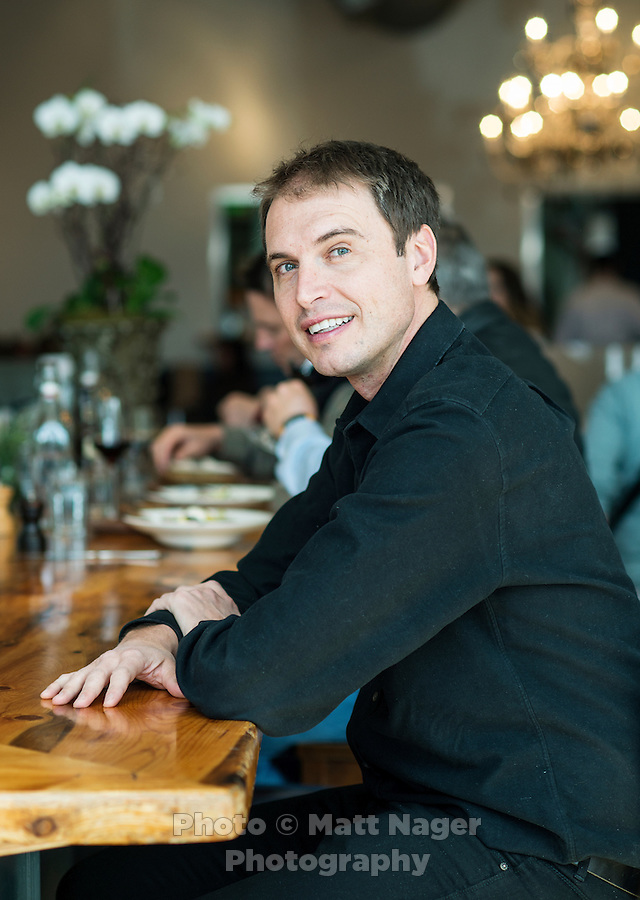 Kimbal Musk (cq) at The Kitchen in Boulder, Colorado, Friday, March 13, 2015. Musk is CEO of The Kitchen restaurant group, with its flagship in Boulder. It is a &quot;farm-to-table&quot; restaurant serving good food at decent prices. Musk also heads Learning Gardens, a non-profit that puts classroom-size gardens in schools so kids can center a curriculum around growing food.  <br /> <br /> Photo by Matt Nager